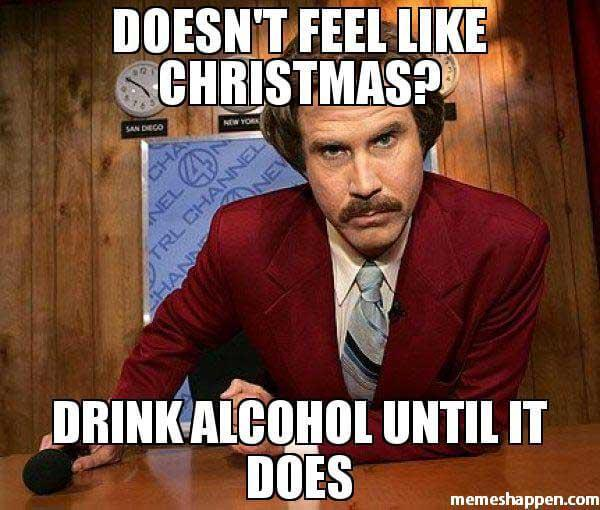 christmas drinking meme