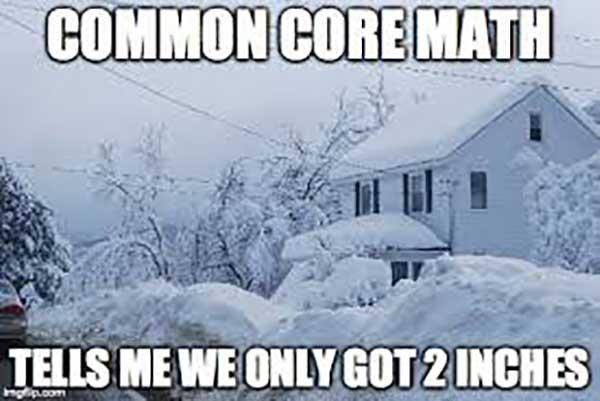 common core math... snow strom meme