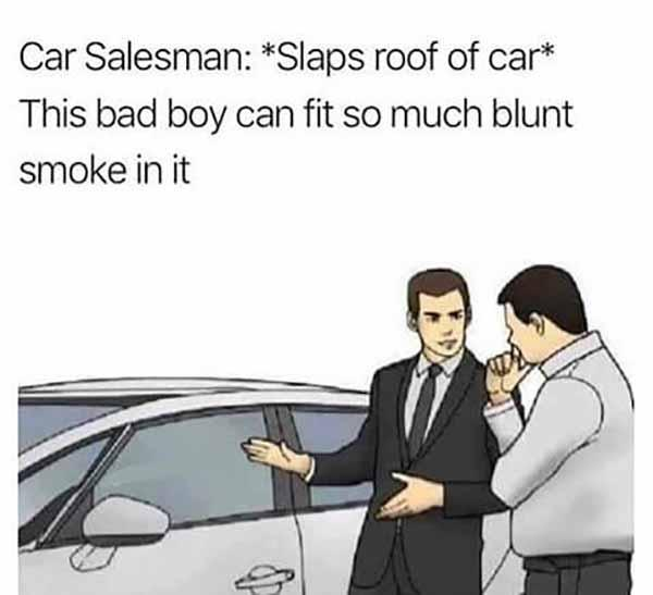 dank slaps roof of car meme this bad boy can fit so much...