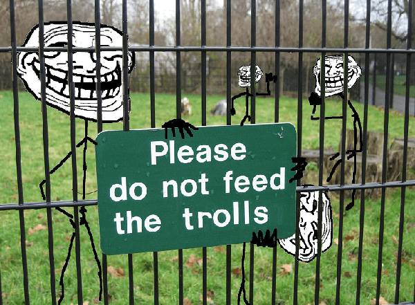 dont feed the troll meme