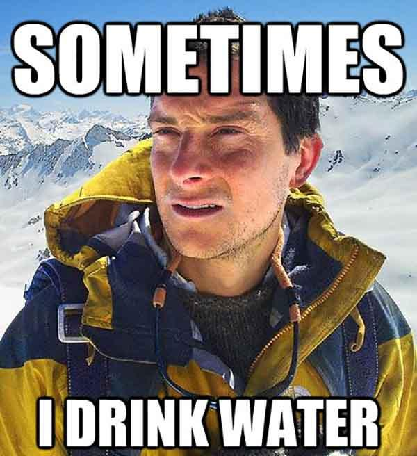 drinking water meme