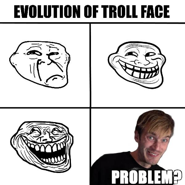 evolution of troll face