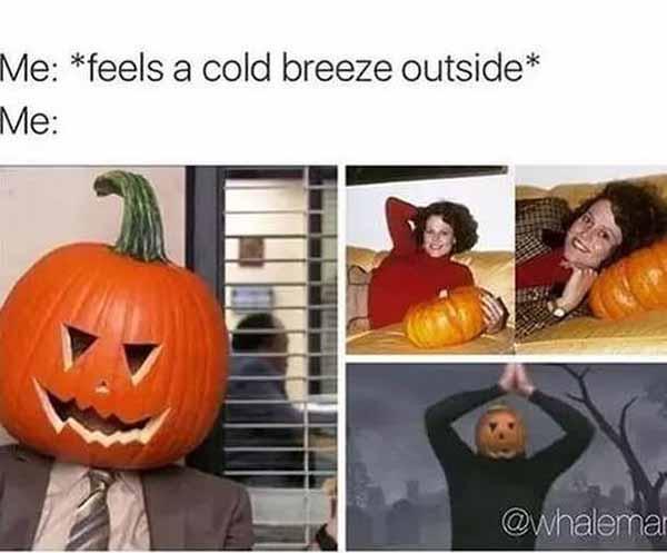 feels a cold breeze outside ... halloween meme