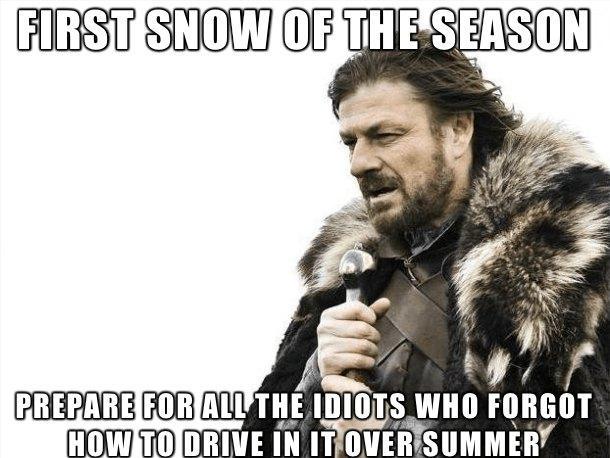 first snow meme