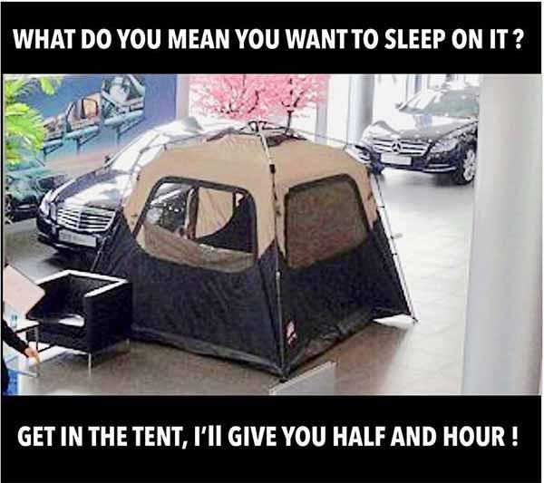 funny car salesman meme