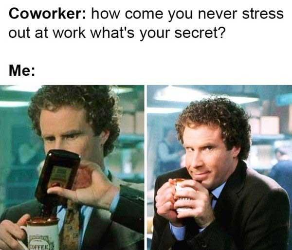 funny drinking at work meme