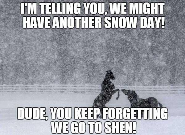 funny snow day meme