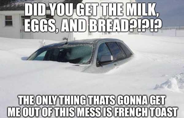 funny snow storm meme