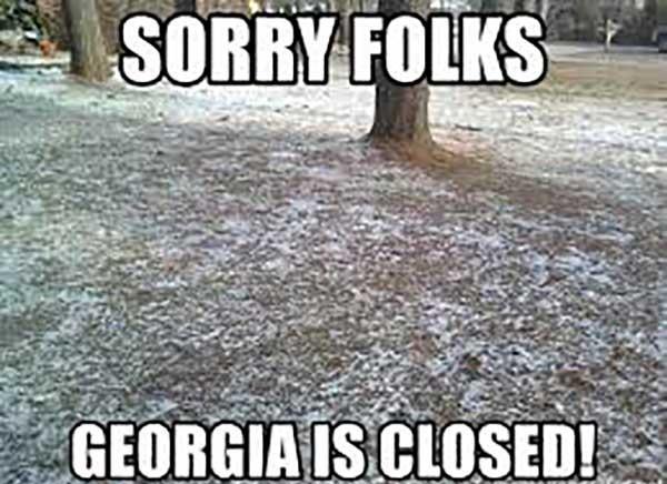 georgia snow meme