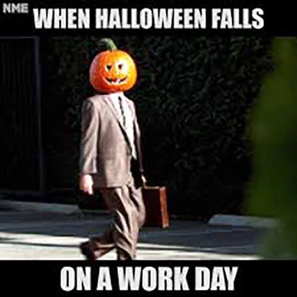 halloween work meme