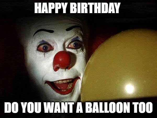 happy birthday do you want a balloon too