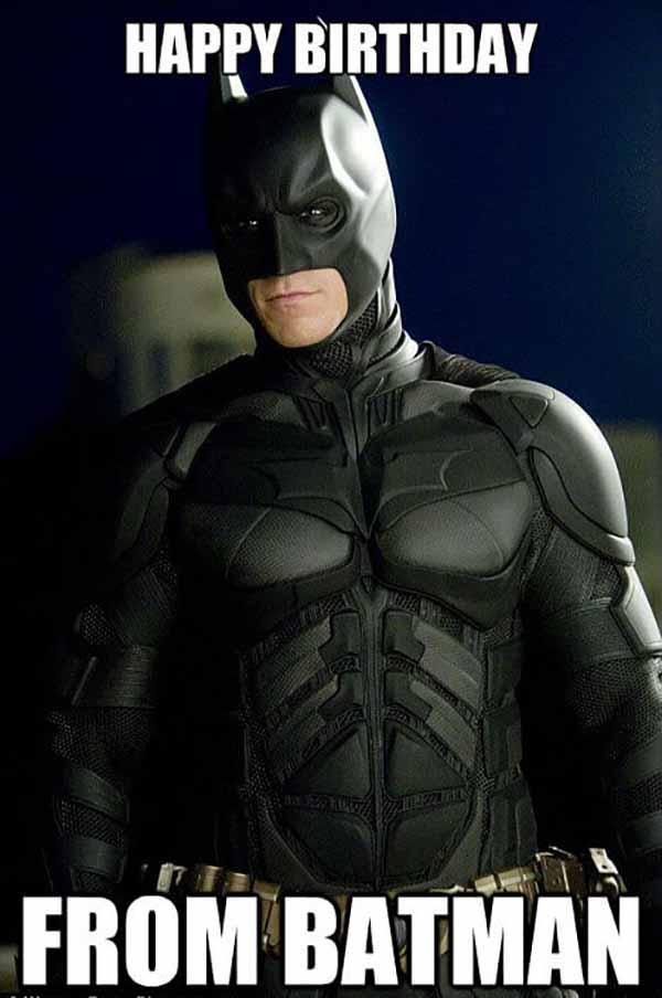 happy birthday from batman