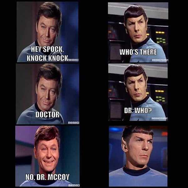 hey spock knock knock... star trek meme