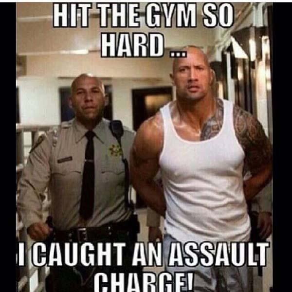 hit the gym so hard i caught an assault charge