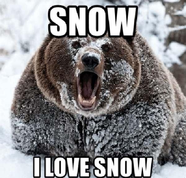 i love snow meme