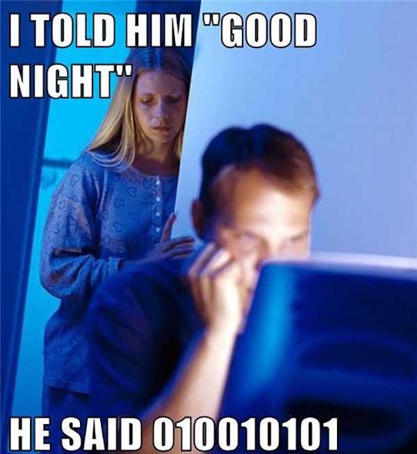 i told him good night...