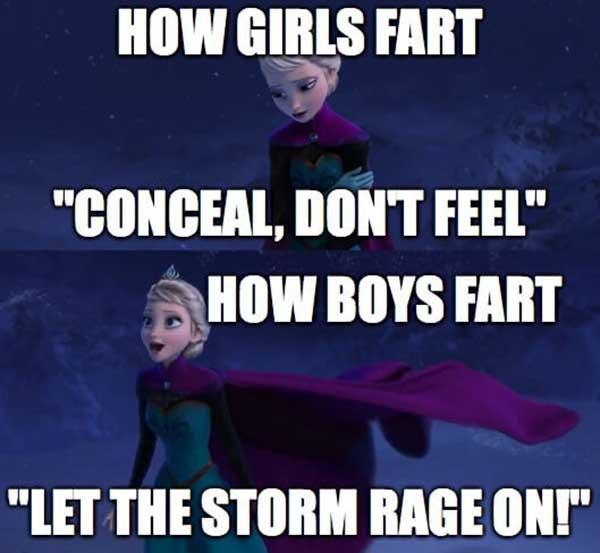 let it go fart meme