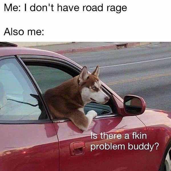 me i don't have road rage also me... car meme