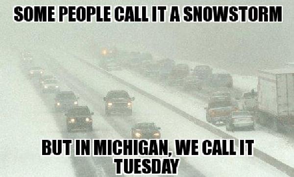 michigan snow meme