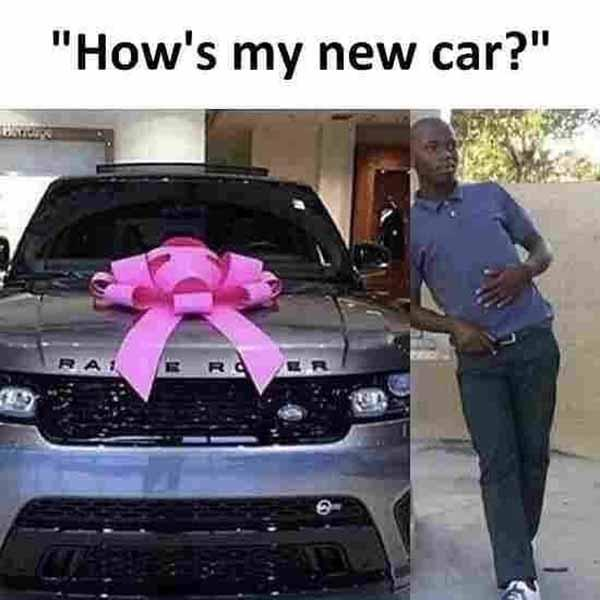 new car meme