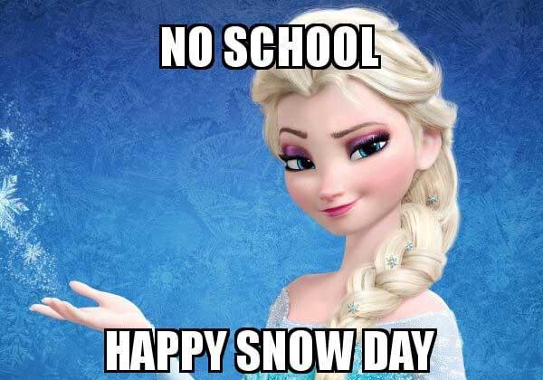 no-school-snow day meme