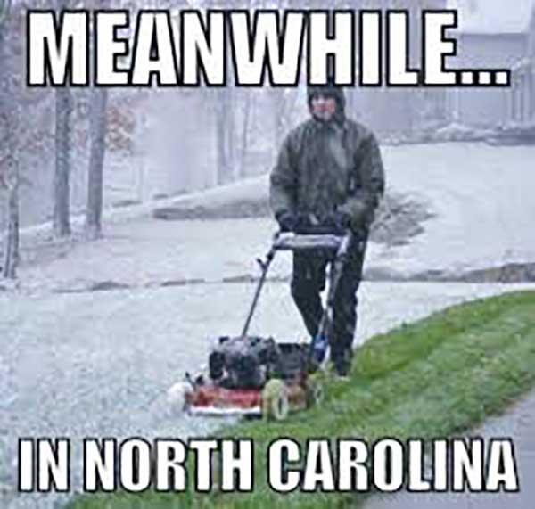 north carolina snow meme