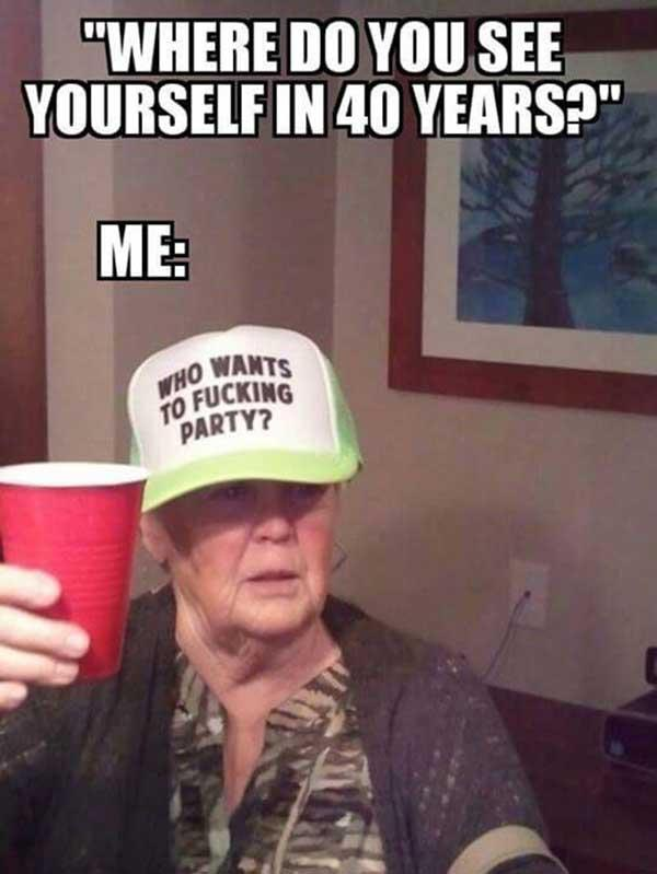 old lady drinking meme