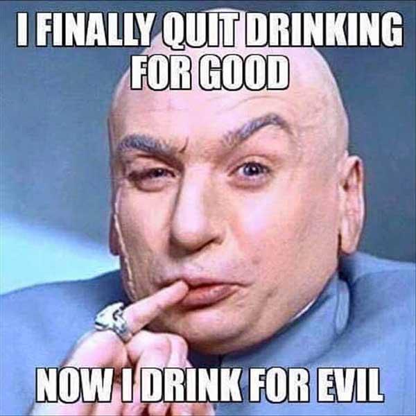 quit drinking meme