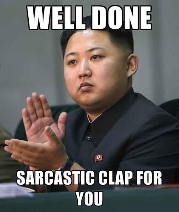 sarcastic applause meme