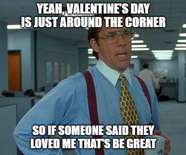 sarcastic valentine meme
