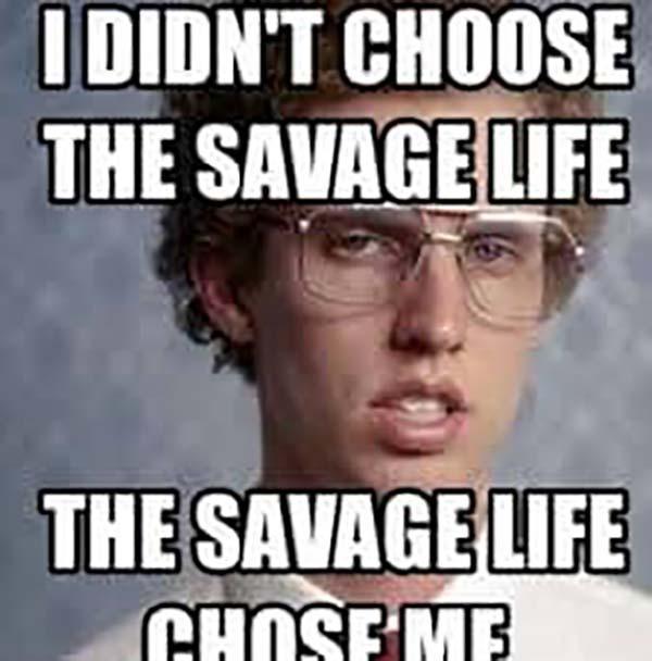 savage glasses meme