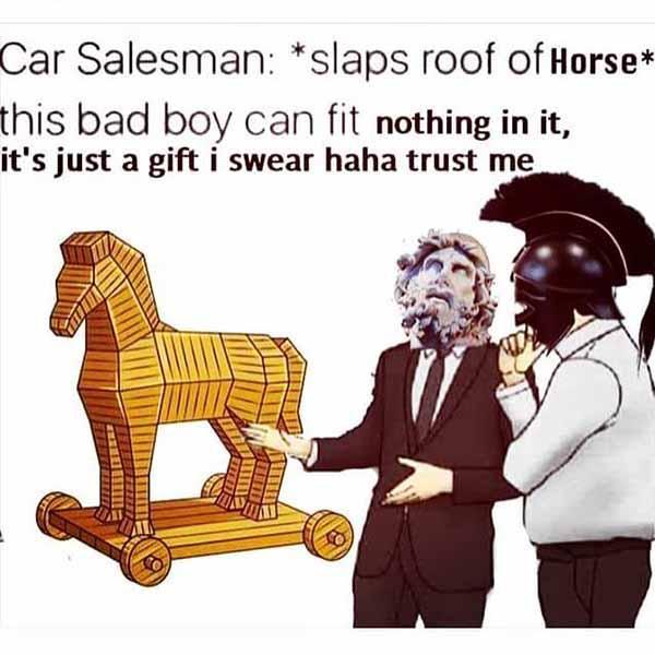 slaps roof of horse meme