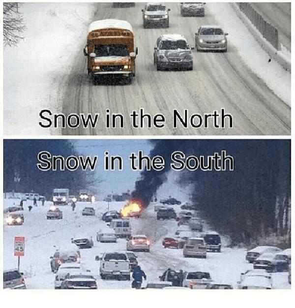 snow in south meme