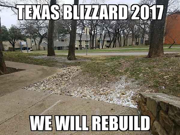 snow in texas meme