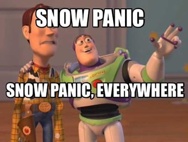 snow panic meme