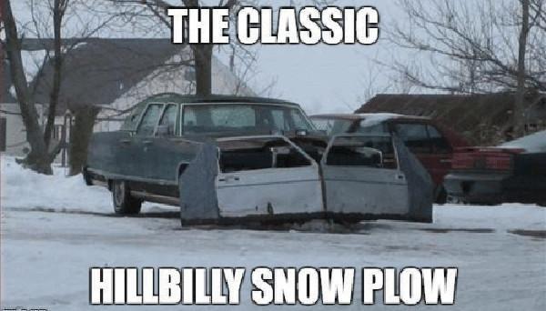 snow plowing meme