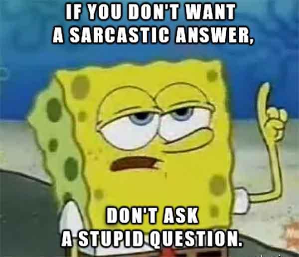spongebob sarcastic meme