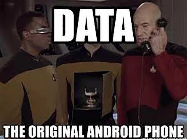 star trek android meme