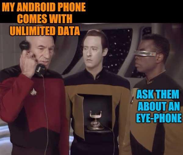 star trek android phone meme