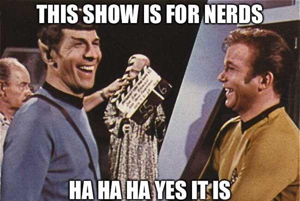 star trek nerd meme