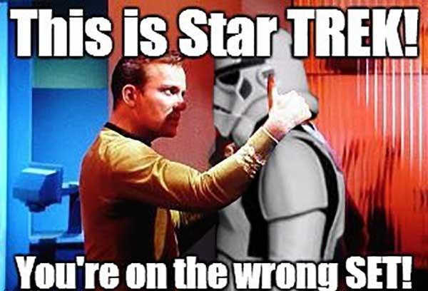 star trek vs star wars meme funny