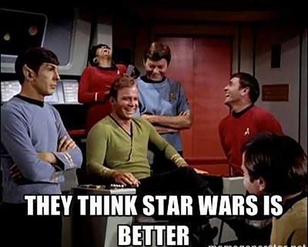 star trek vs star wars meme
