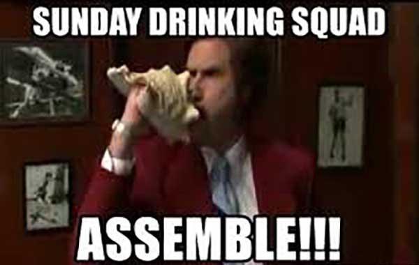 sunday drinking meme