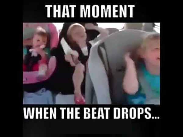 that moment when the beat drops - dancing baby meme