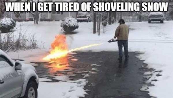tired of snow meme