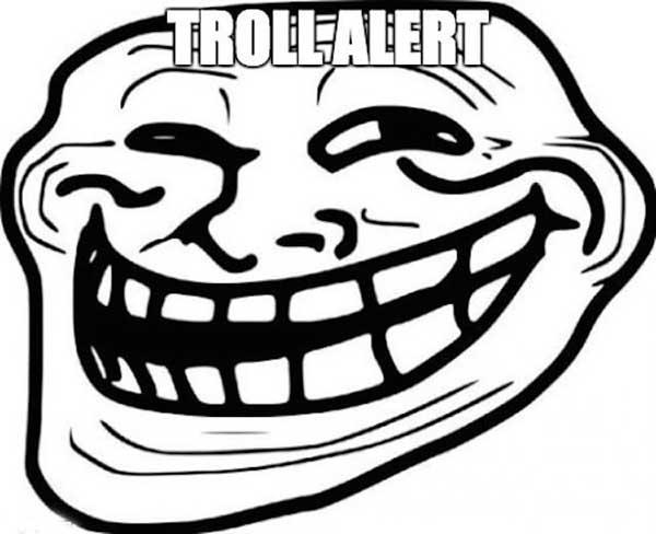 troll alert meme face