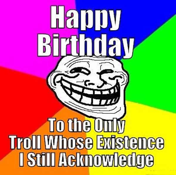 troll birthday meme