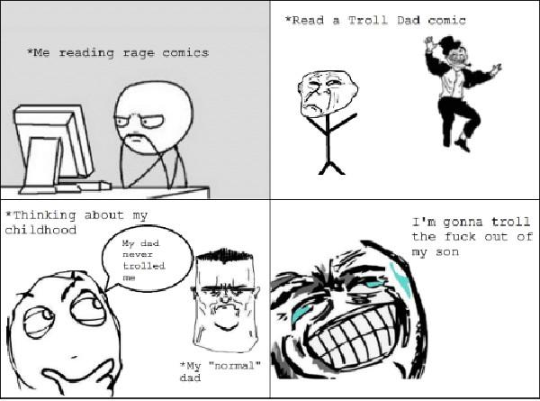 troll dad meme comics