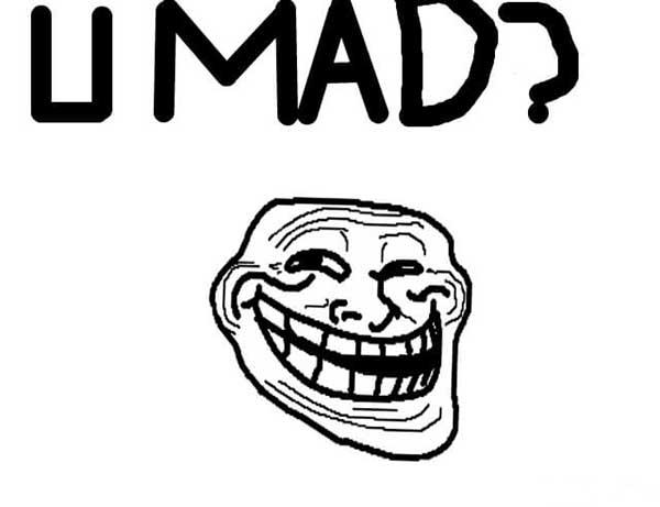 troll face meme u mad