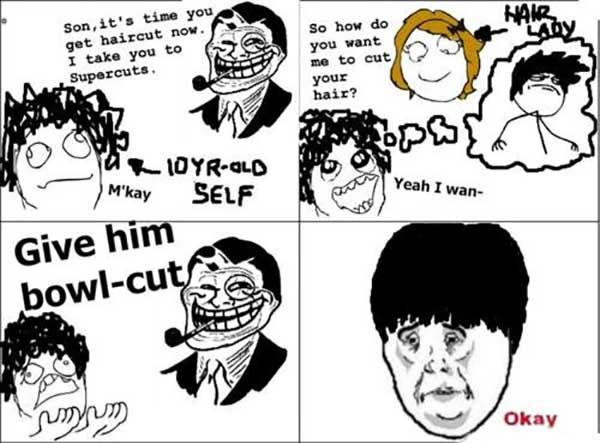 troll hair meme
